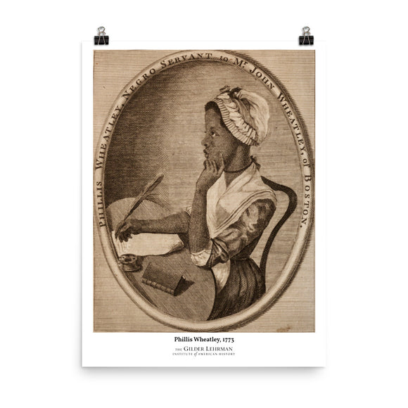 Phillis Wheatley, 1773 (poster)