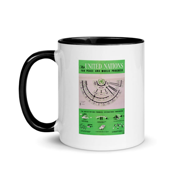 United States State Department poster, 1947 (two-color mug)