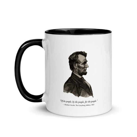 Abraham Lincoln silhouette (two-color mug)