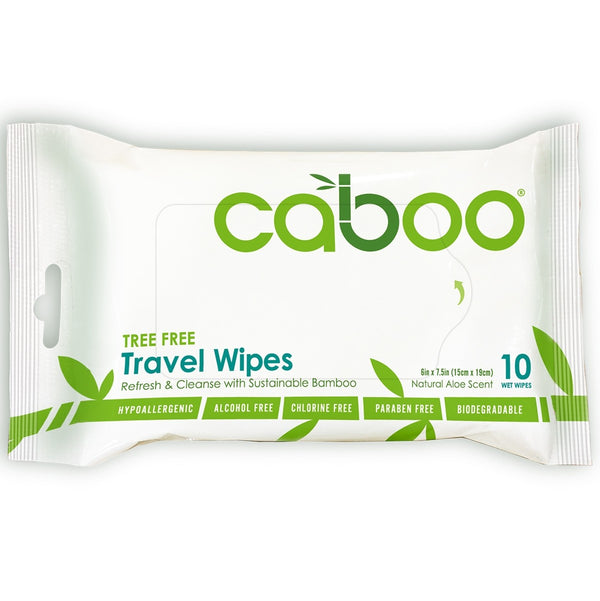 Caboo Bamboo Travel Wipes (10 Wipes)
