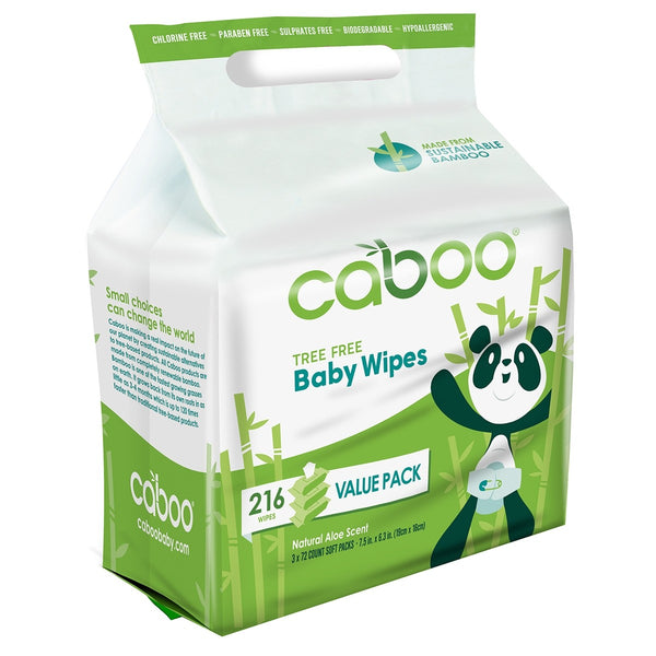 Caboo Bamboo Baby Wipes | 216 wipes