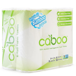 Caboo Kitchen Roll Towels 6-Pack