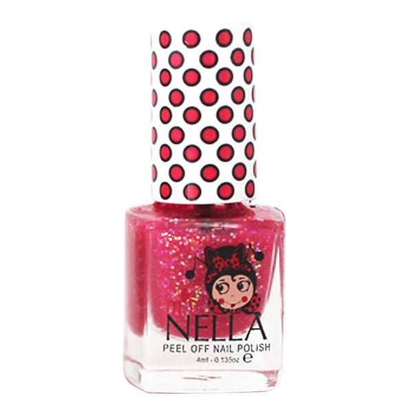Tickle Me Pink Glitter 4ml Peel off Kids Nail Polish