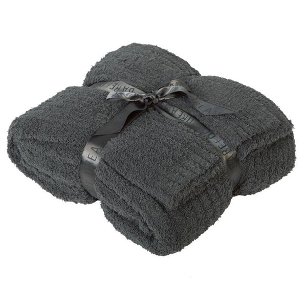 BAREFOOT DREAMS COZYCHIC RIBBED Q/K BLANKET