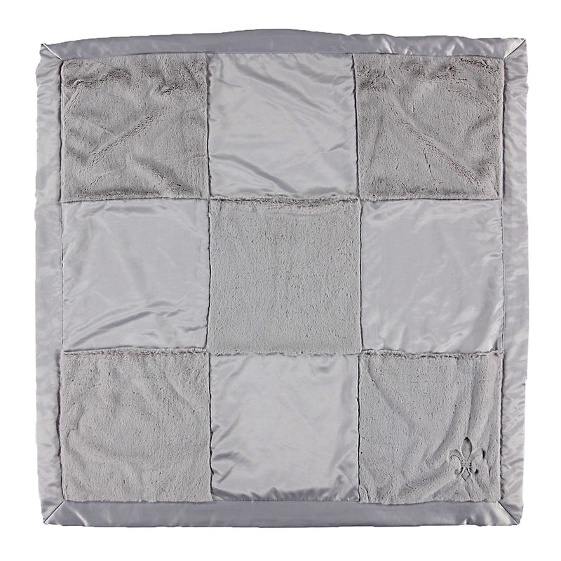 BAREFOOT DREAMS CUDDLE PLUSH PATCHWORK BLANKET