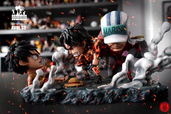 Cola Studio - Monkey D. Luffy, Ace and Akainu Last Fight [SD]