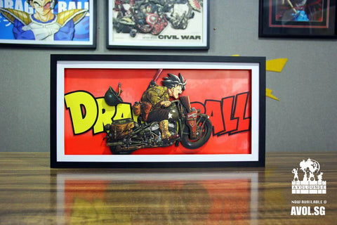 3D Art Frame - Son Goku on Bike[2 variants]