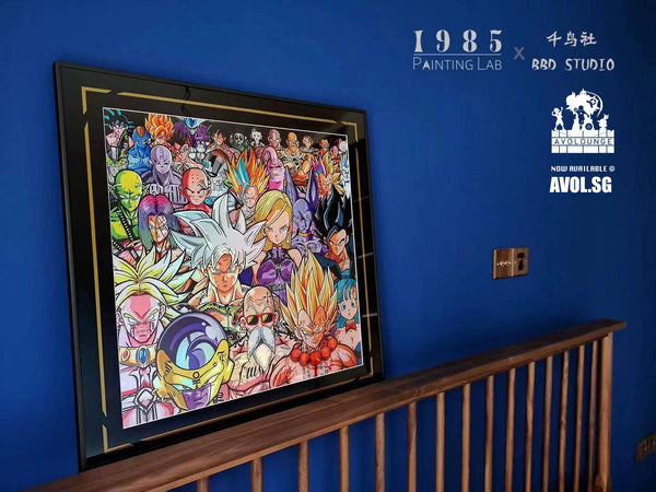 1985 Painting Lab X BBD Studio - Dragon Ball Photo Frame