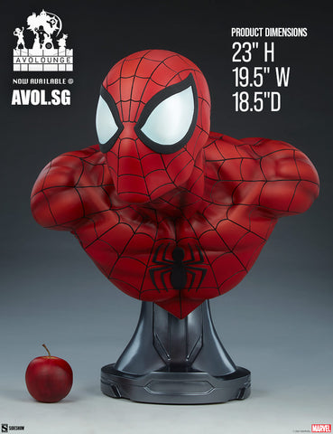 Premium Format™ Figure by Sideshow Collectibles - Spiderman Bust [1/1 scale]