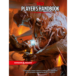 Dungeons and Dragons 5e: Players Handbook (hardcover)