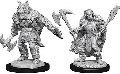 Dungeons & Dragons Nolzur`s Marvelous Unpainted Miniatures: W9 Male Half-Orc Barbarian