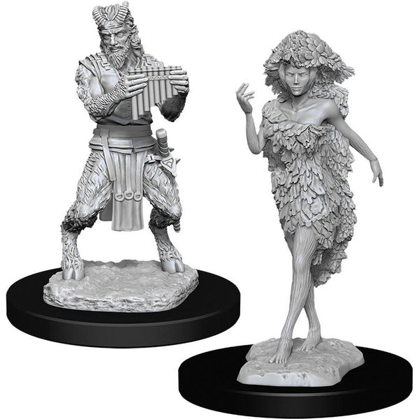 Dungeons & Dragons Nolzur`s Marvelous Unpainted Miniatures: W11 Satyr & Dryad