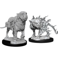 Dungeons & Dragons Nolzur`s Marvelous Unpainted Miniatures: W11 Mastif & Shadow Mastif