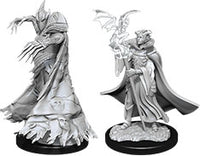 Pathfinder Deep Cuts Unpainted Miniatures: W12 Cultist & Devil