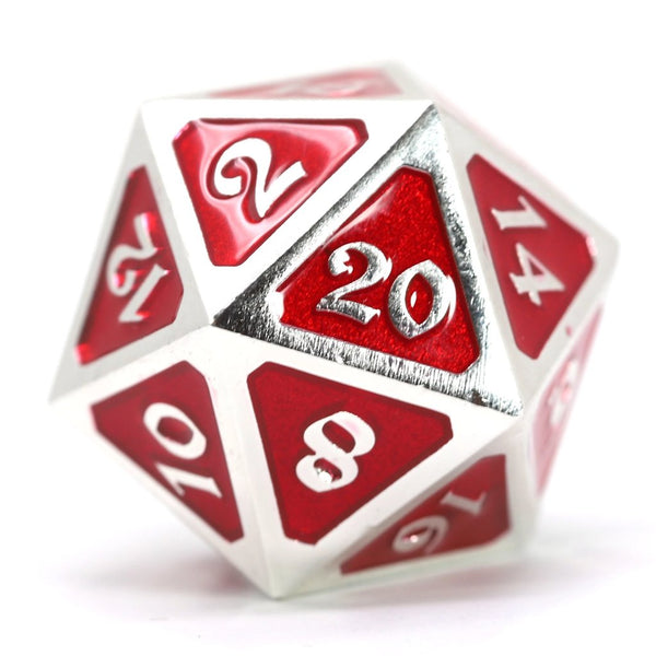 Die Hard Dice D20 25mm - Mythica Platinum Ruby