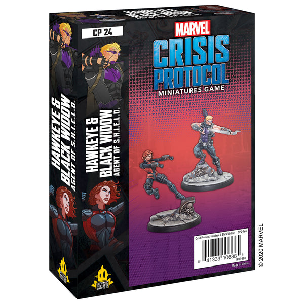 Marvel Crisis Protocol - Hawkeye and Black Widow Character Pack