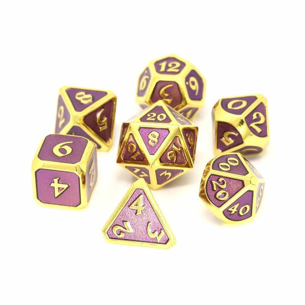 Die Hard 7-Dice Set - Mythica Gold Amethyst