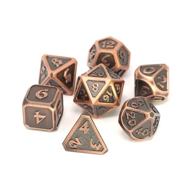 Die Hard 7-Dice Set - Mythica Battleworn Copper