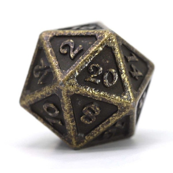 Die Hard Dice D20 25mm - Mythica Dark Gold