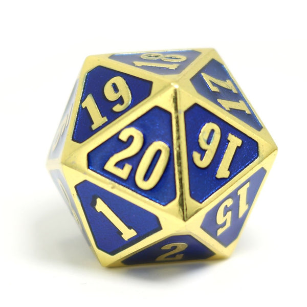 Die Hard Dice D20 25mm - Shiny Gold Sapphire