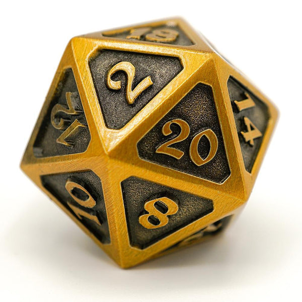 Die Hard Dice D20 25mm - Mythica Battleworn Gold
