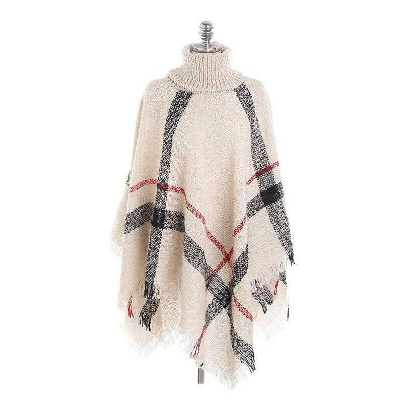 Lattice Cloak Poncho Sweater