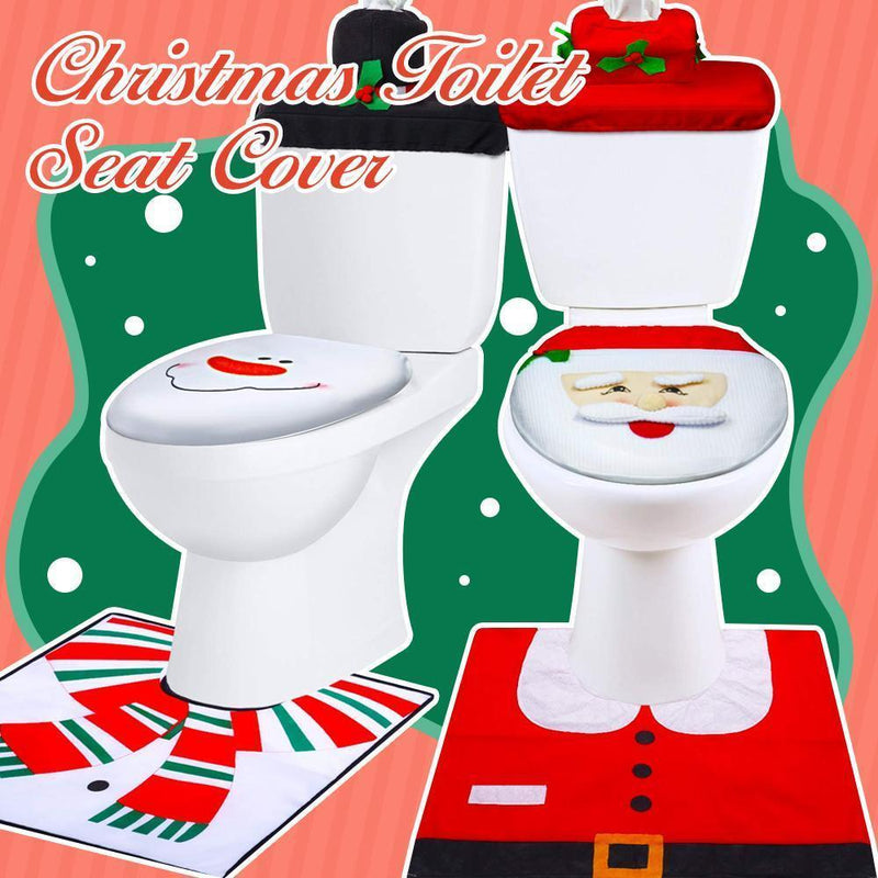 Christmas Toilet Seat Cover (1 set)