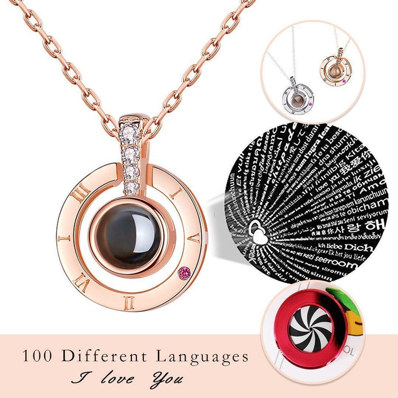 "100 Languages ""I LOVE YOU"" Necklace & Ring(adjustable)"