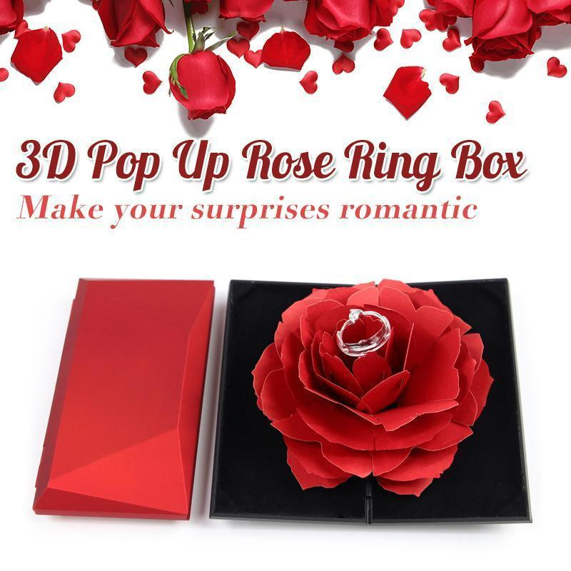 3D Rose Ring Box