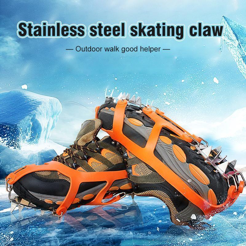 18 Teeth Stainless Steel Crampons Slip-resistant Shoes Cover