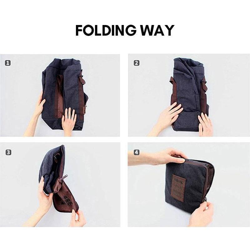 Foldable, waterproof travel bag with large capacity