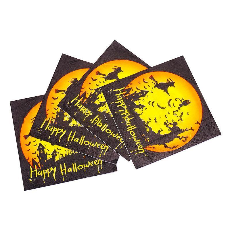 Halloween Decoration For Home Paper Napkins, 20 PCs