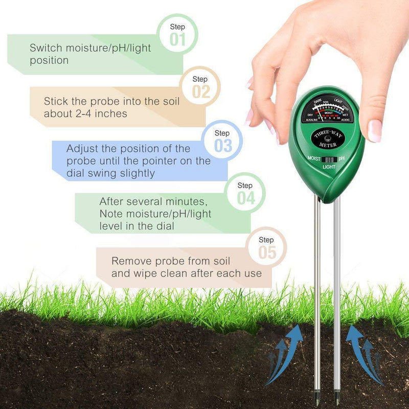 3-in-1 Soil Tester Kits with Moisture