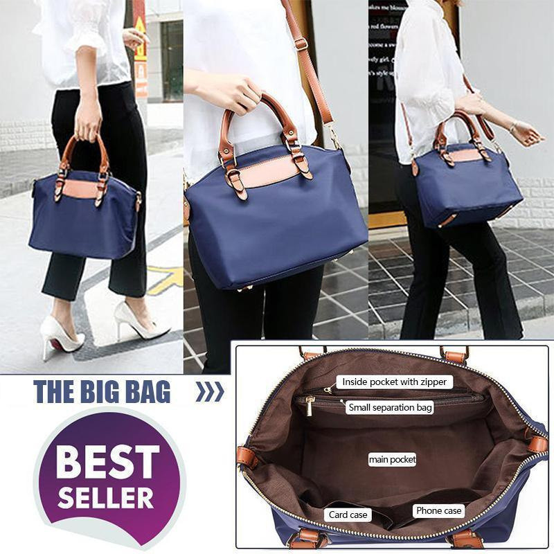 Casual waterproof handbag, a big with a little one