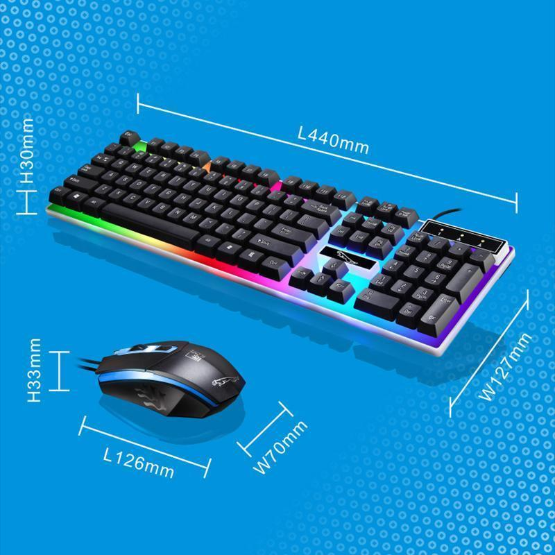 LED Light Keyboard Set