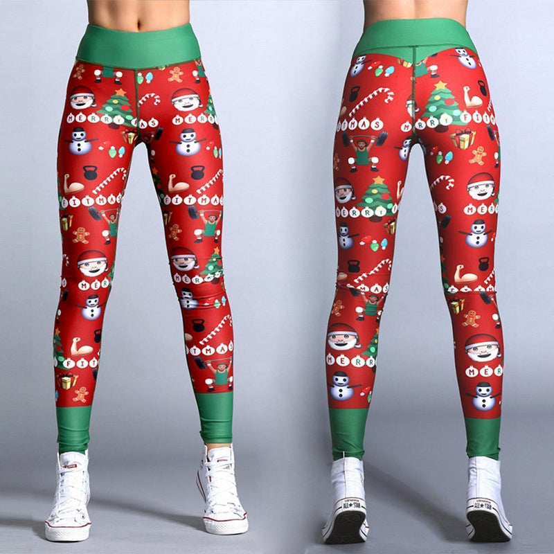 Christmas striped print pants
