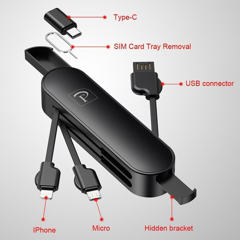 3 in 1 Folding Saber Charging Cord