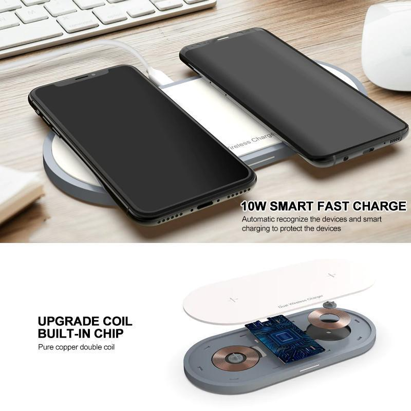 20W Wireless Dual Charger Pad