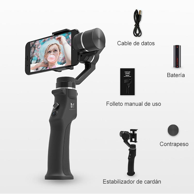 Handheld gimbal stabilizer smart spotlight tracking