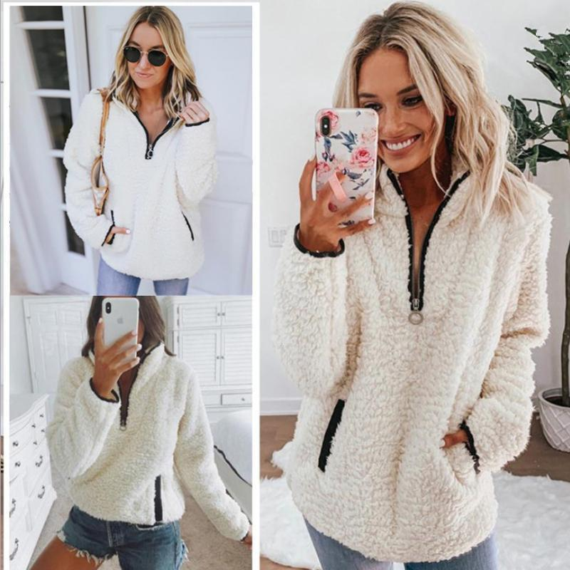 Casual Long Sleeve Patchwork Zipper Outerwear
