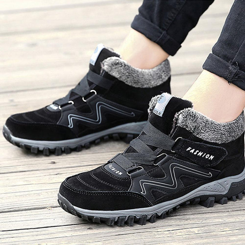 Couple Winter Warm Fur Lining Snow Shoes