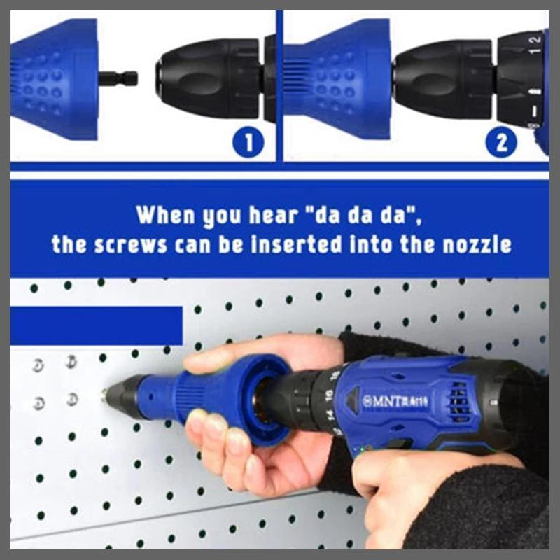 Detachable Rivet Gun Drill Adapter