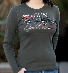 Gun Goddess 'Lead & Petals' Long Sleeved Shirt