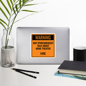 Sticker: Warning May Talk HT