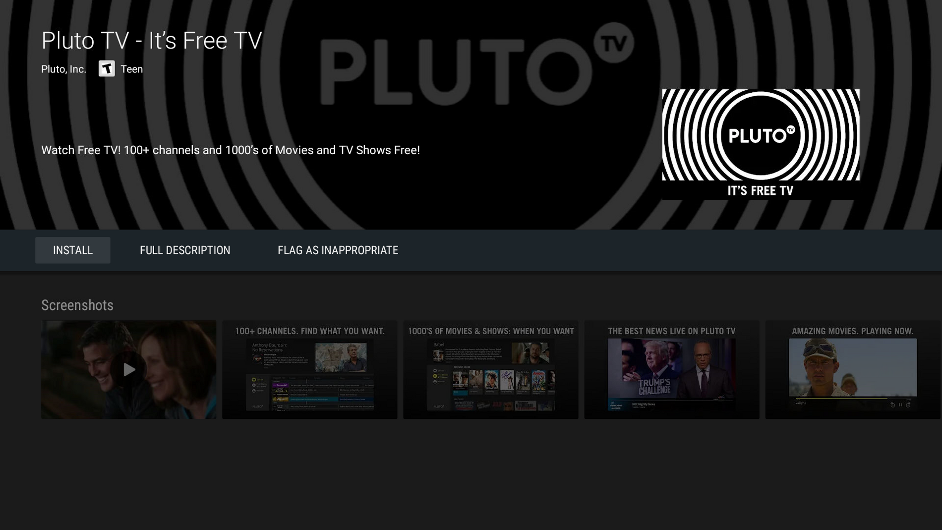 Pluto TV is the Best FREE Live TV Streaming Application!