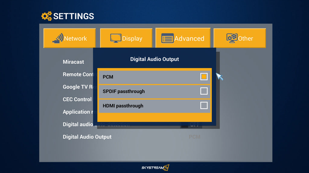 Support | SkyStream Streaming Media Players | Stream Movies