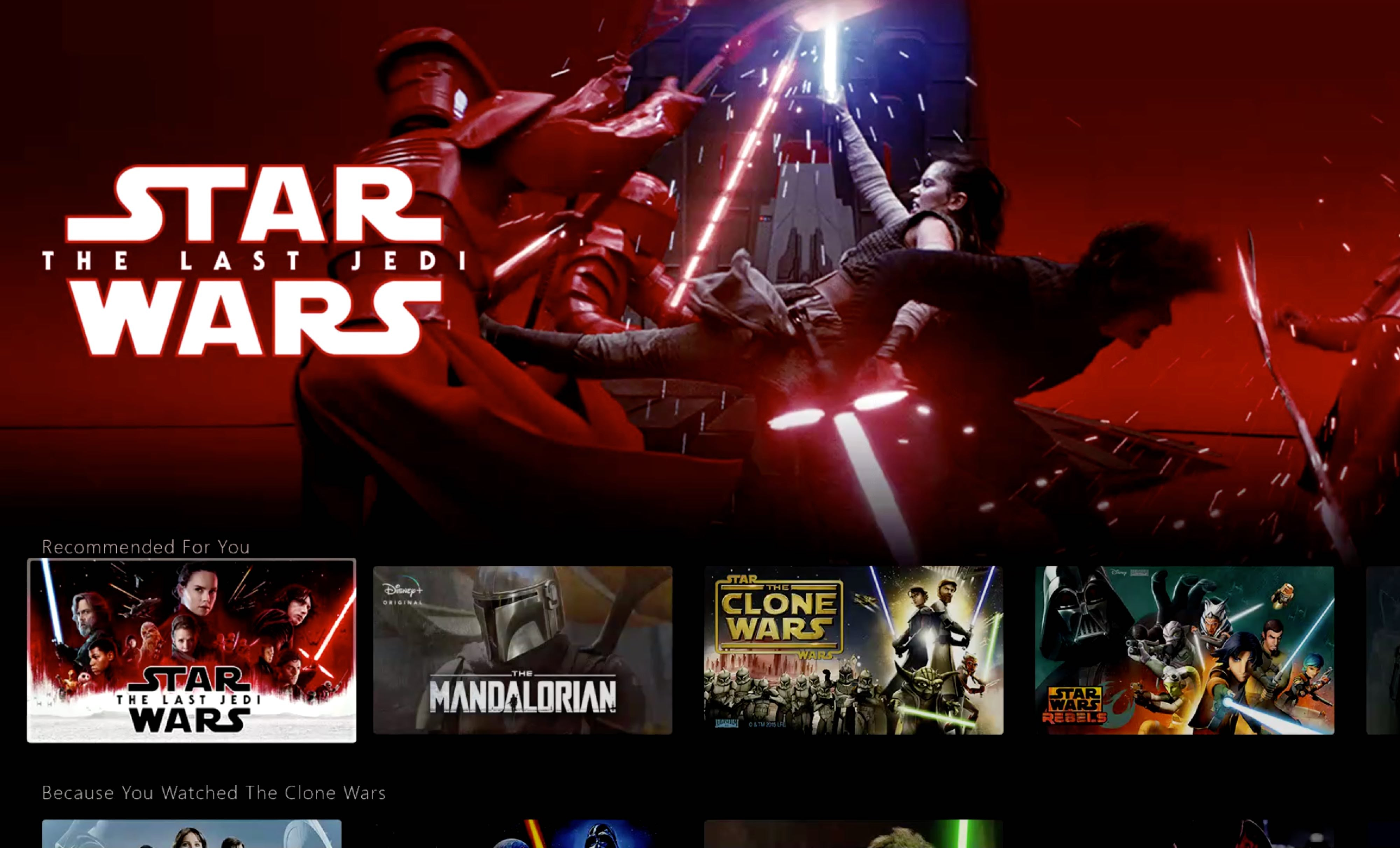 Disney+ Plus Star Wars