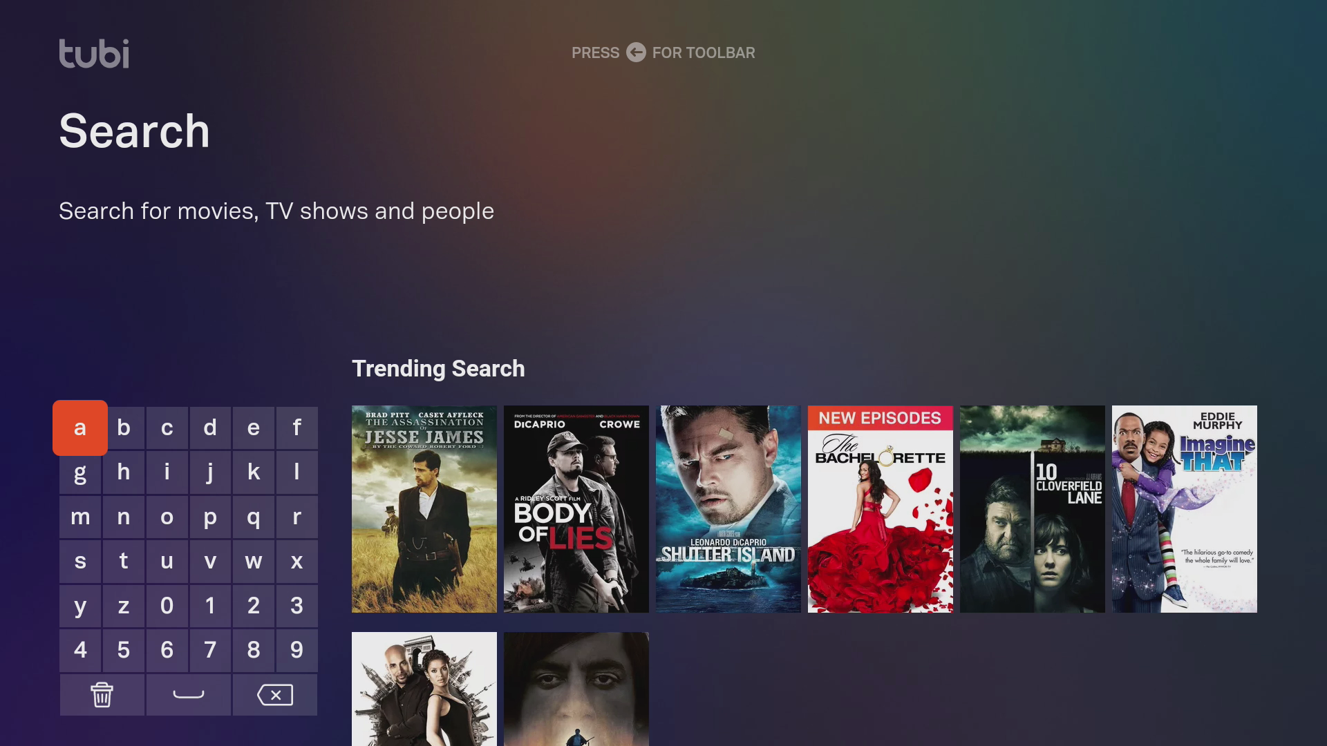 Tubi TV Search Feature