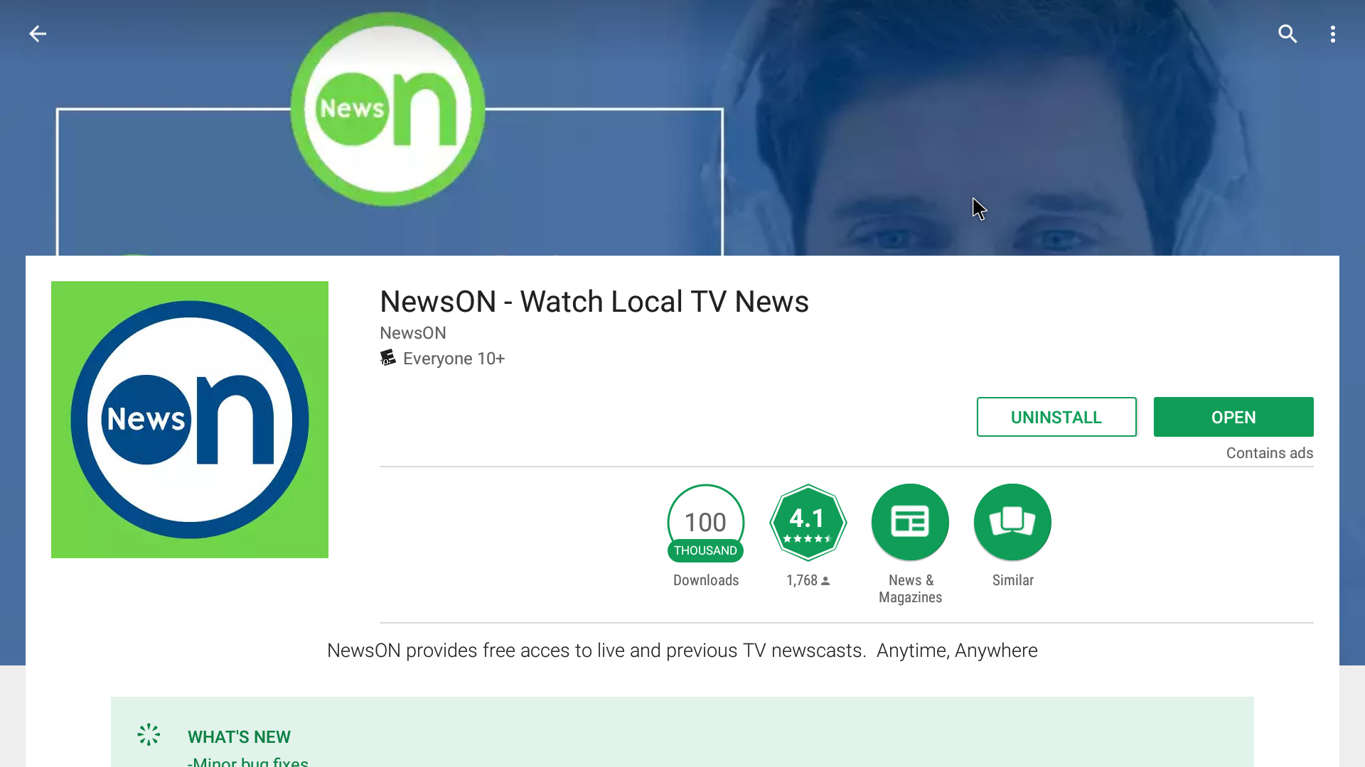 NewsON Android Streaming App