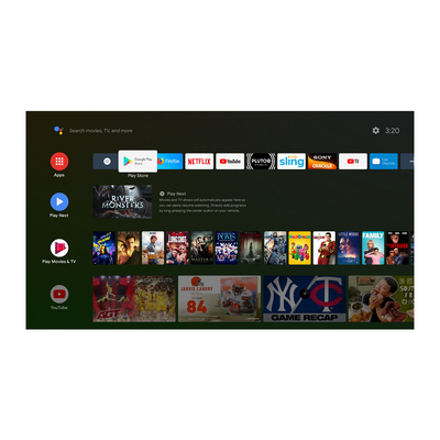 android tv home page